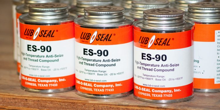 Cans of ES-90 Environmentally Safe thread compound.